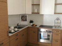 Küche braun weiß
